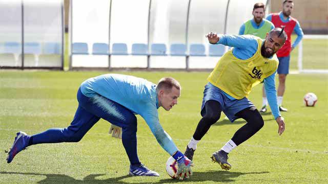 Primer entrenamiento del Barça pensando en el Rayo