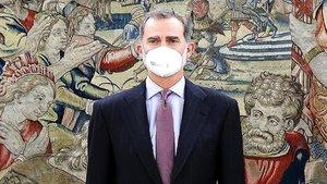 El Rey Felipe VI, negativo por coronavirus, pero aún en cuarentena