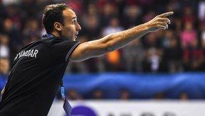 Roberto García Parrondo confía en lograr un resultado positivo en el Palau