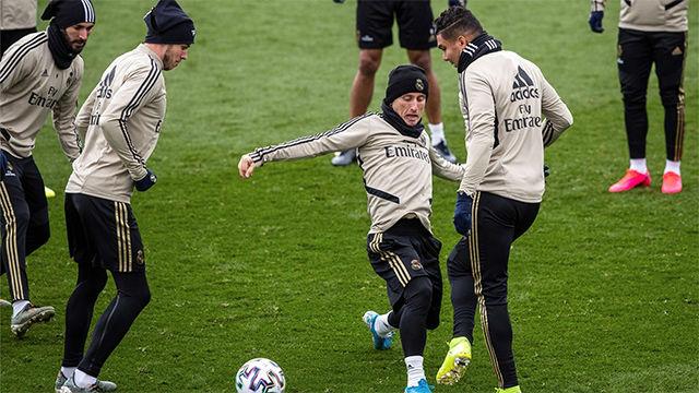 Sin Ramos ni Odriozola en el último entreno antes de la Copa del Rey