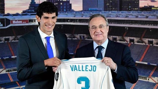 Vallejo, presentado con el Real Madrid