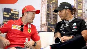 Vettel, uno de los que habló del posible récord de Lewis.