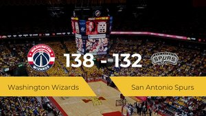 Washington Wizards gana a San Antonio Spurs por 138-132