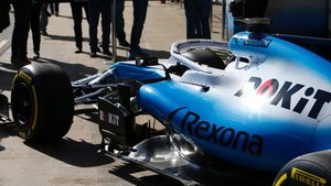 El Williams FW42 ha llegado al Circuit desde Grove