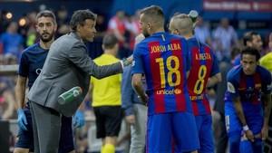 Alba y Luis Enrique no tuvieron un gran feeling en esta última temporada