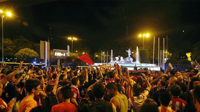 Así celebró la afición del Atlético la victoria en la Supercopa de Europa