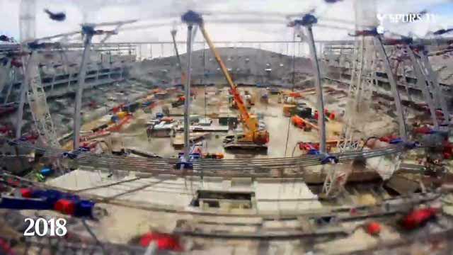 Así se construyó el nuevo estadio del Tottenham