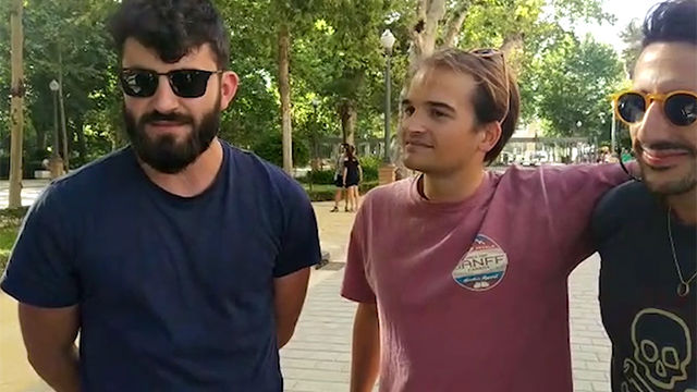 Así está el ambiente en Sevilla: culés y chés, muy optimistas