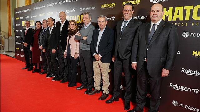 Así ha sido la alfombra roja en el estreno del documental Matchday