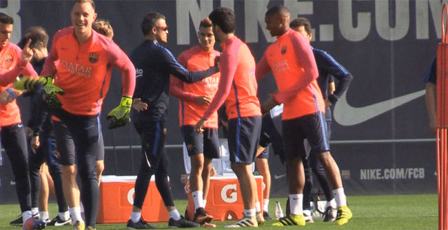 El Barça preparó su encuentro contra el Granada