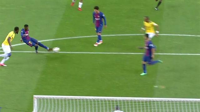 Dembélé abrió el marcador con un golazo