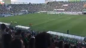 Emotivo minuto 71 en el primer partido del Chapecoense