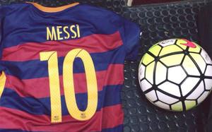 Esta es la fotografía que publicó Leo Messi en Facebook