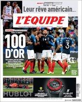 Esta es la portada de LEquipe de este 11 de septiembre