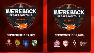 La Euroliga disputará dos torneos de pretemporada