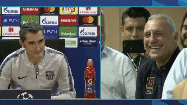 ¡Genio y figura! Stoichkov se ofrece a Valverde como sustituto de Messi y el técnico responde con ironía