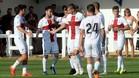 El Huesca, celebrando un gol en esta pretemporada