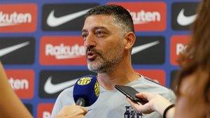 Javier García Pimienta, entrenador del Barça B