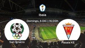 Jornada 8 de la Tercera División: previa del duelo San Ignacio - Pasaia KE