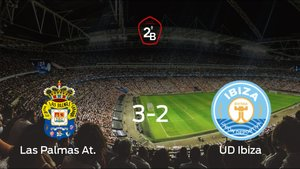Las Palmas At. se lleva la victoria en casa frente al Ibiza (3-2)