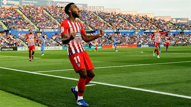 Lemar lidera al Atlético y marca su primer gol con la camiseta rojiblanca