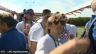 Luka Modric, en el autocar que trasladó a la selección de Croacia a la llegada a su país