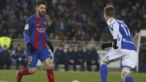 Messi, en un partido ante la Real Sociedad