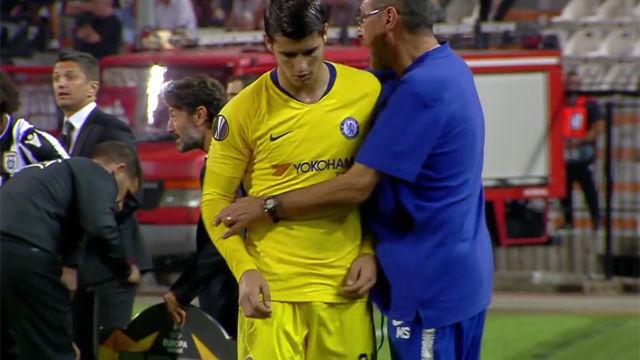 Morata no tuvo su noche: falló y fue sustituido