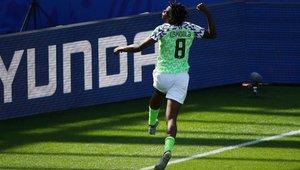 Oshoala celebra su gol ante Corea