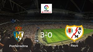 La SD Ponferradina suma tres puntos tras pasar por encima al Rayo Vallecano (3-0)