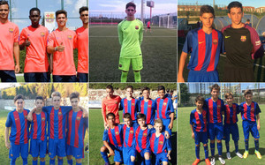 Por orden, todos los fichajes del fútbol 11 del Barça. De Juvenil A a Infantil B