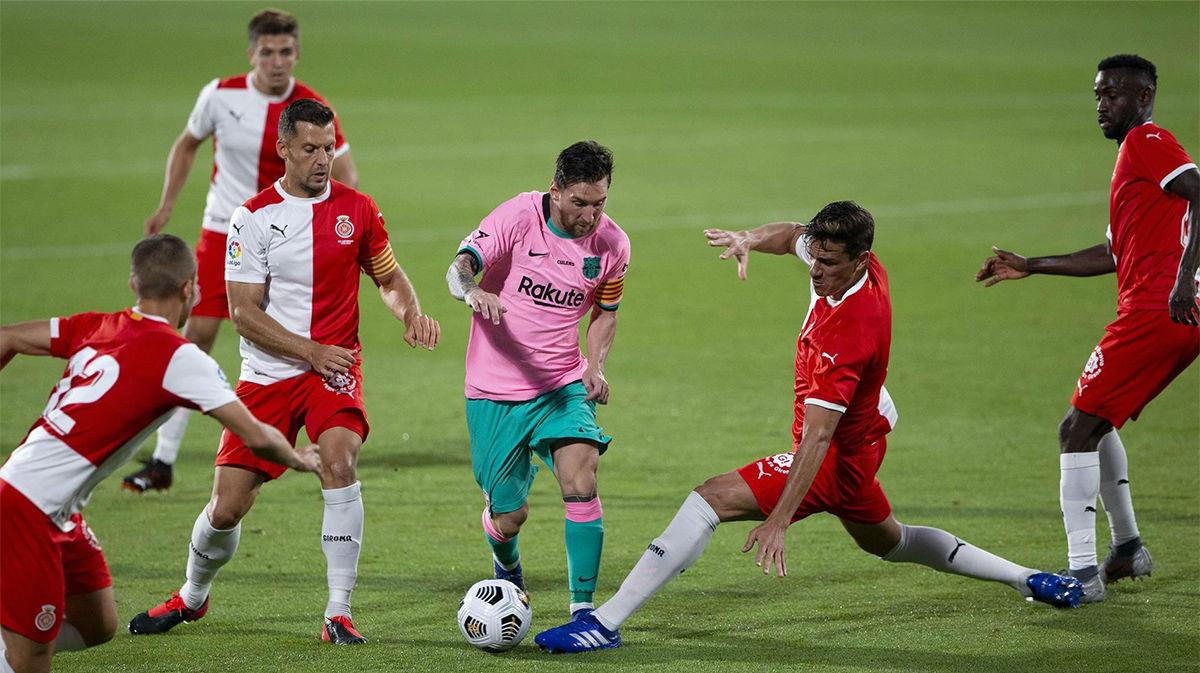 ¡Qué bueno que te quedaste, Messi! Asistencias y golazos ante el Girona