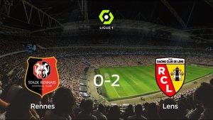 El Racing de Lens se queda con los tres puntos después de vencer 0-2 al Stade Rennes