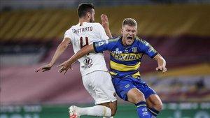 La Roma logró un importante triunfo en el Olímpico ante el Parma
