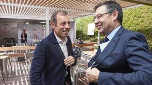 Rosell, con Bartomeu en el tenis de Barcelona