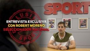 El seleccionador español Robert Moreno visitó SPORT