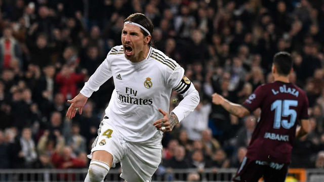Sergio Ramos adelantó al Madrid tras un polémico penalti