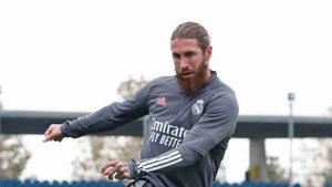 Sergio Ramos se ha entrenado en solitario