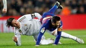 Sergio Ramos y Leo Messi, siempre protagonistas del clásico