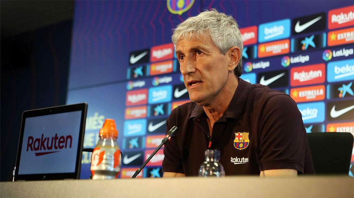 Sigue en directo la rueda de prensa de Setién antes del Villarreal