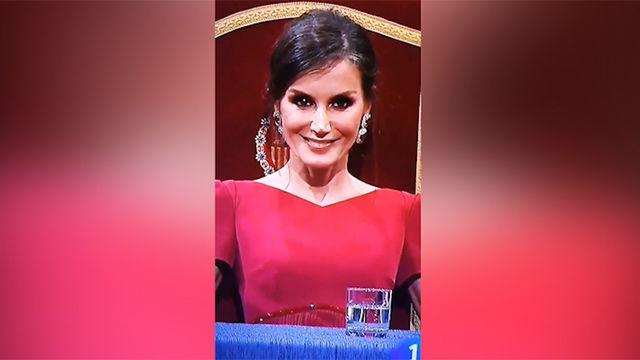 La sonrisa viral de la reina Letizia