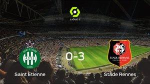El Stade Rennes suma tres puntos tras pasar por encima al AS Saint Etienne (0-3)