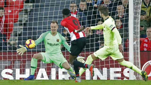 Ter Stegen salvó al Barça de la derrota con uno de sus mejores partidos de su carrera