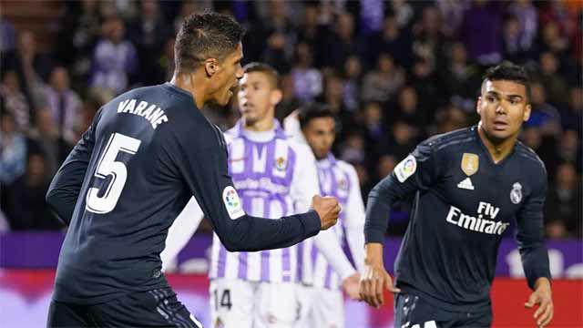 Varane inició la remontada del Madrid ante el Valladolid