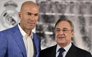 Zidane y Florentino Pérez tiene opiniones encontradas