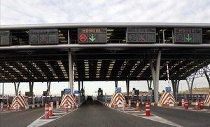 Peaje en la M-12, que une Madrid con el aeropuerto de Barajas