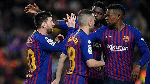 La alineación del FC Barcelona contra el Manchester United