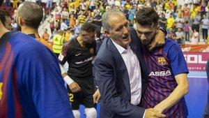 Andreu Plaza y Leandro Esquerdinha, felices tras la victoria
