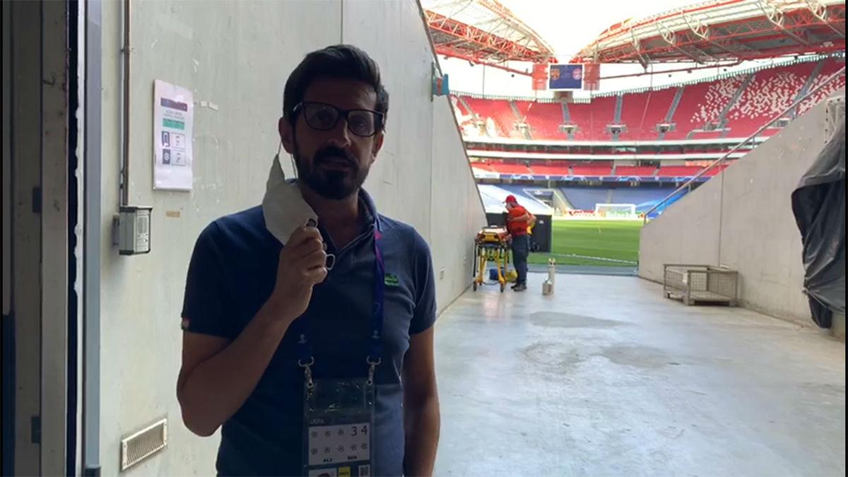 Así luce Da Luz, el estadio que acoge el Barça-Bayern de cuartos de la Champions
