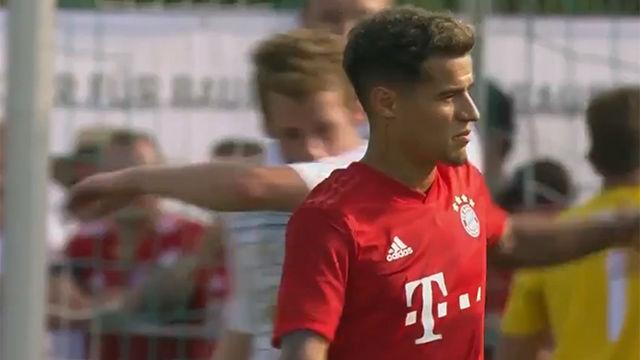 Así ha sido el primer gol de Coutinho con el Bayern
